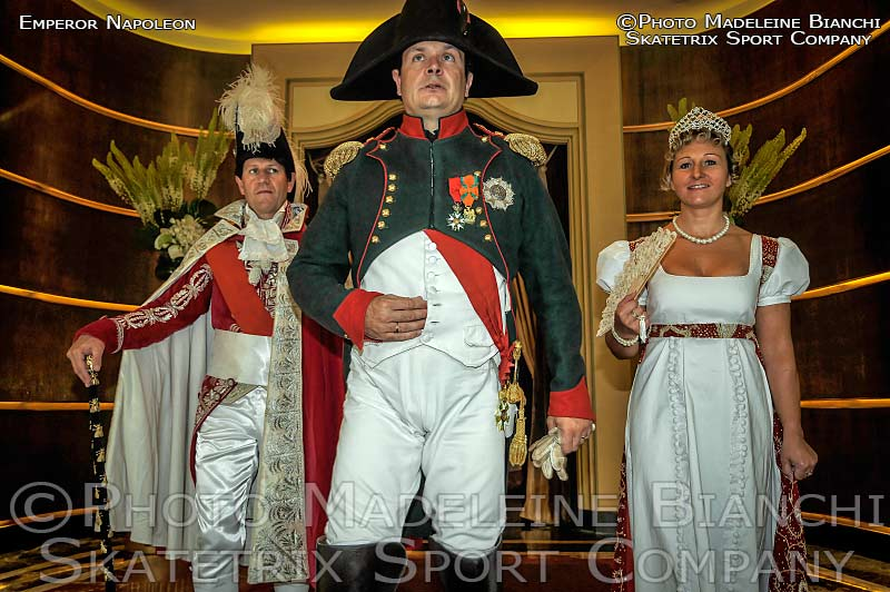 NAPOLEON BONAPARTE - Empereor of France - with his court
