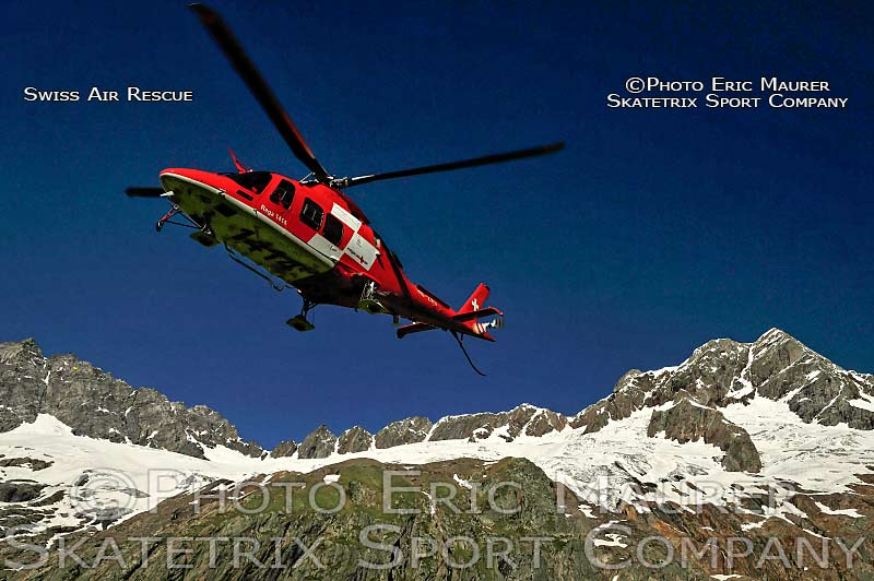 Swiss Air Rescue Helicopter