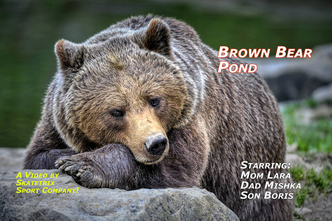 Video: BROWN BEAR POOL! The Brown Bear Family Mom LARA, Dad MISHKA and Son BORIS enjoy their pond. These Bears take a refreshing bath at dawn!