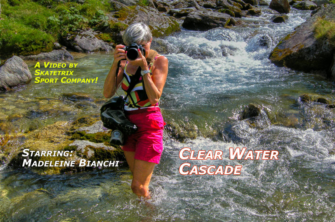 Video: CLEAR WATER CASCADE! It's Springtime in the Swiss Alps! Follow MADELEINE BIANCHI on her Quest for the most precious Elixir of Life: CLEAR WATER!