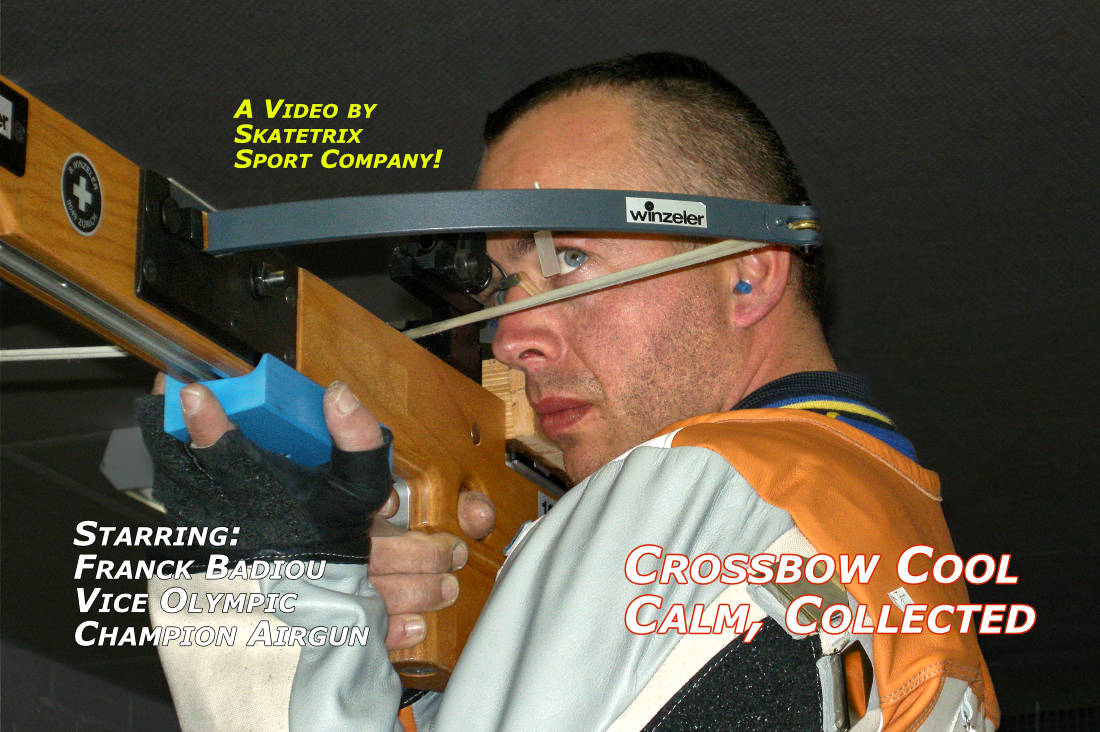 Video: CROSSBOW - COOL, CALM, COLLECTED! FRANCK BADIOU Vice olympic champion with the airgun competes at a international crossbow shooting competition!
