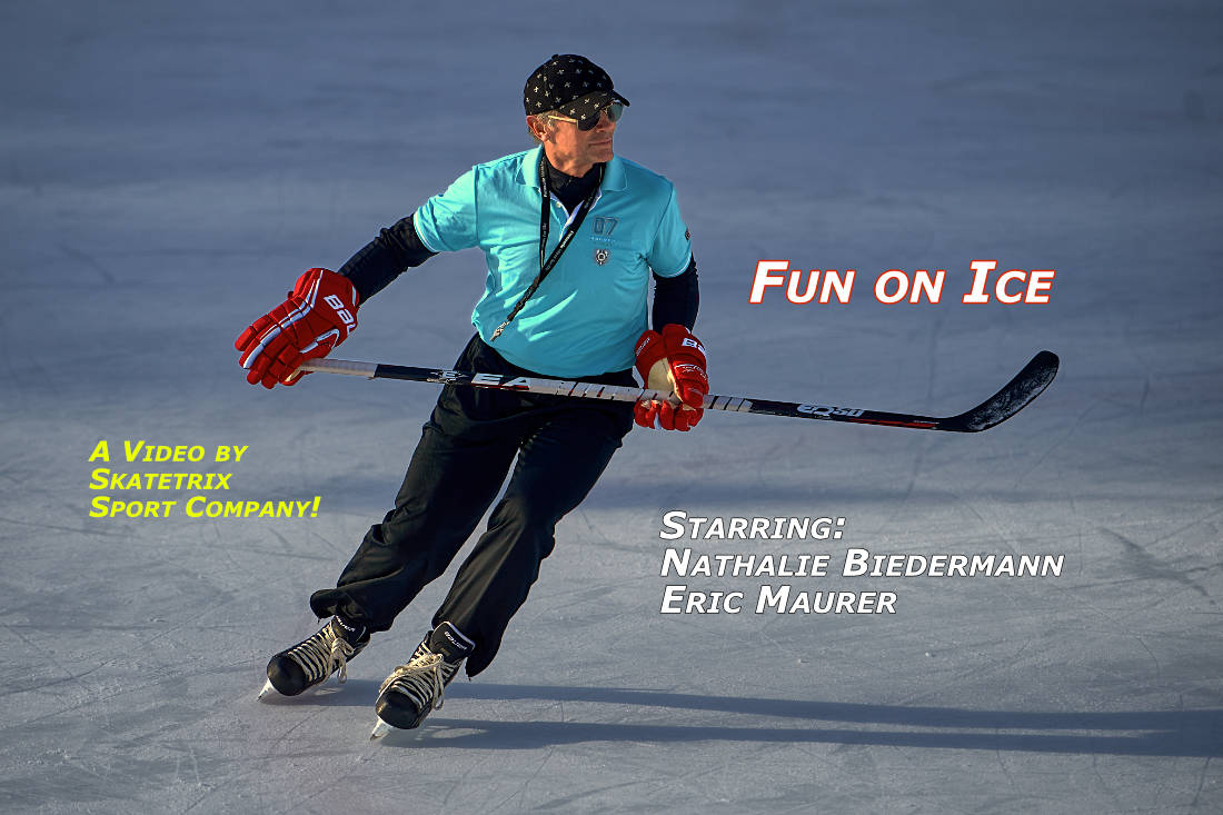 Video: FUN ON ICE! With Swiss champion NATHALIE BIEDERMANN and former Elite Ice Hockey Player ERIC MAURER.